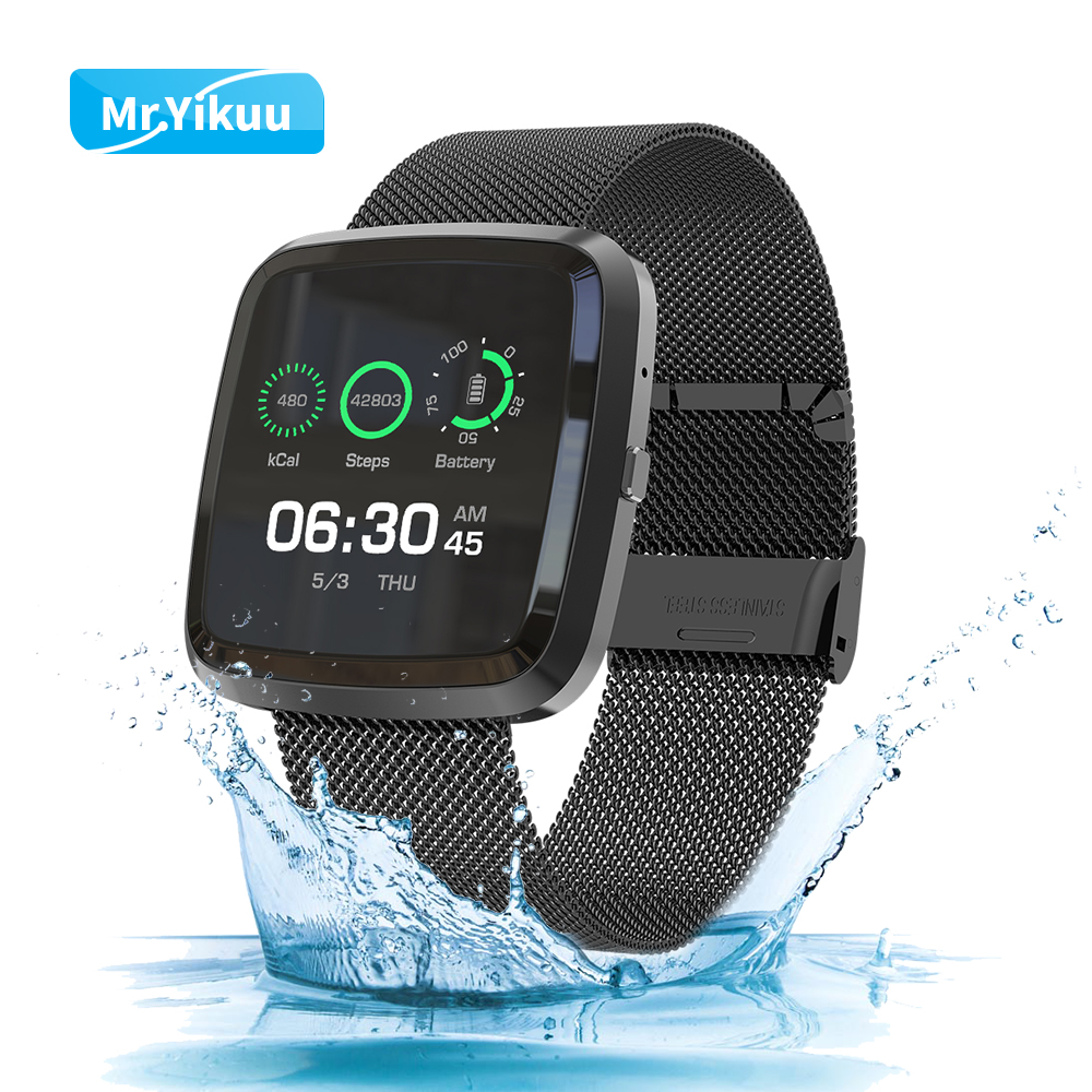 Smart Watch Bracelet T2 Bluetooth Wirstband Square Sport Metal Strap Band Fitness Tracker Week Remote Control For IOS Android