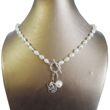 100% NATURE FRESHWATER PEARL NECKLACE and bracelet,long baroque pearl 7-9 mm,Hedgehog,bear pendant