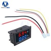 Mini Digital voltímetro amperímetro 0,28 pulgadas DC 100V 10A Panel Amp voltios medidor de corriente de 0,28