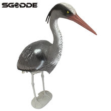 Large Plastic Resin Hunting Decoy Heron Garden Ornament Lifelike Bird Scarer Caller Fish Pond Koi Carp Tackle Decoys for Hunt(China)