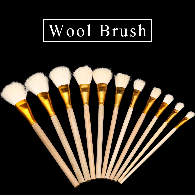 10 Pcs Wool Pen Brush, Brush Glue,sweep Gold Leaves,Good Quality Brush,soft, A Good Tool For Gilding Leaves,free Shipping