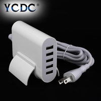 5 Ports Universal Portable USB Charger 5V 8A 40W US UK EU Plug Smart Mobile Phone