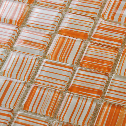 Kitchen Backsplash Orange popular orange glass tile-buy cheap orange glass tile lots from