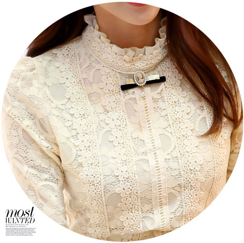 HTB1TvrJGVXXXXbhXXXXq6xXFXXXF - Hot Women Fleece Crochet Lace Blouse-Hot Women Fleece Crochet Lace Blouse