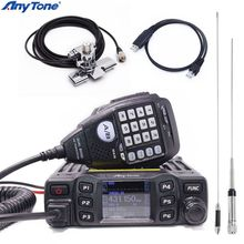 AT 778UV AnyTone VHF Rádio Transceptor Dual Band mini Mobile: 136 174 UHF: 400 480 MHz em Dois Sentidos e Rádio Amador Walkie Talkie Presunto
