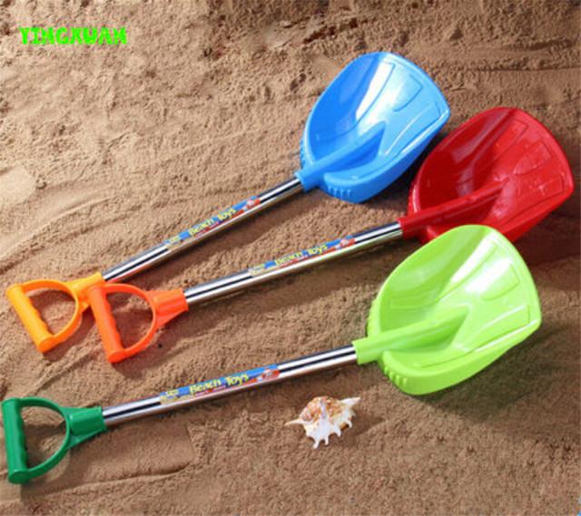 Happyxuan 1 unidades 61 cm niños de plástico playa de arena pala del juguete play herramientas niños diversión al aire libre