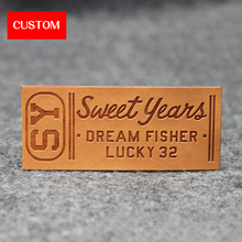 Clothing Name-Labels Sewing-On Branding Embossed Customized Metal Round No.11 4--4cm