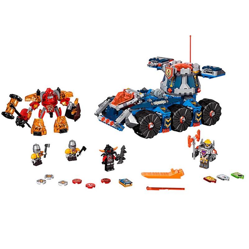 LEPIN Nexo Knights Axl s Tower Carrier 704 PCS Model Building Blocks Toys Minifigures Bricks Toys