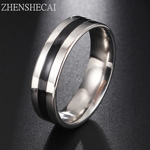 Vintage sliver stainless steel Ring women Mens Jewelry for Wedding Party engagement jewelry lovers Free Shipping g15(China)
