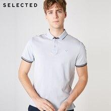 เลือกผู้ชายผ้าฝ้าย 100% คอปกแขนสั้นถักเสื้อโปโล S