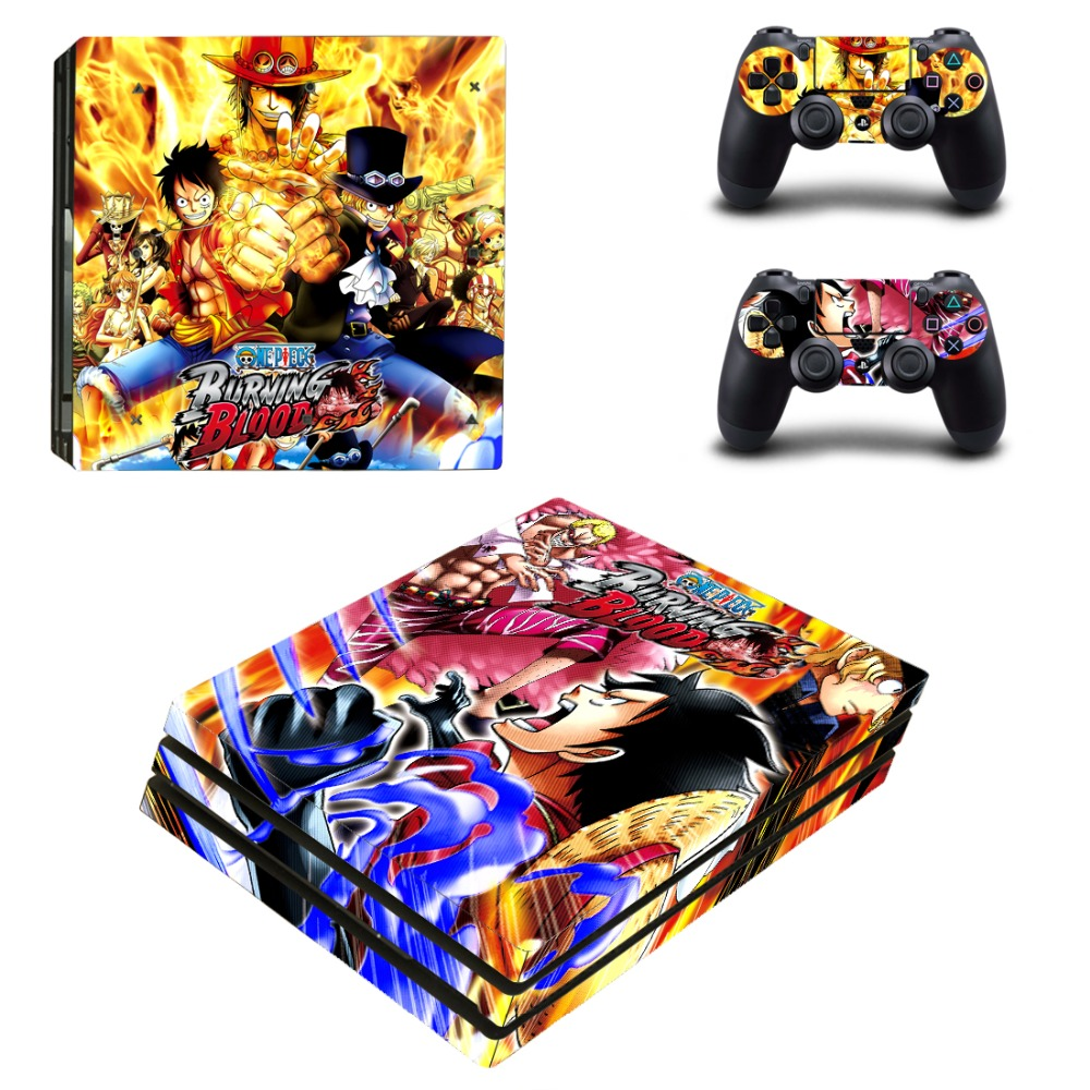ONE PIECE PS4 Pro Skin Sticker Cover For Sony Playstation 4 Pro Console&Controllers
