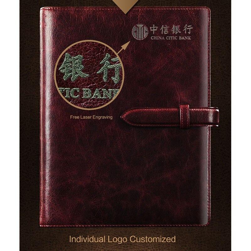 A5 B5 véritable cuir Business sangle cahier spirale feuilles mobiles planificateur organiser journal cahiers luxe cadeau bloc-notes avec anneaux