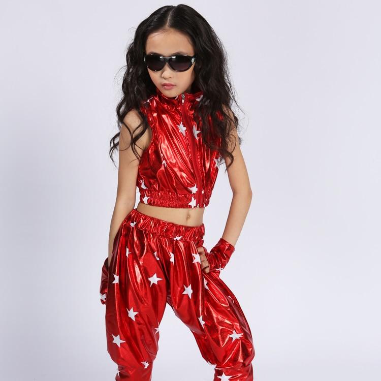 Modern Hip Hop Jazz Dance Suit For Children  Performance Dance Wear