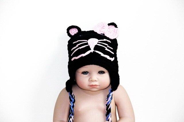 Freies verschiffen, häkeln Babymütze, häkeln Baby Katze Hut, Baby ...