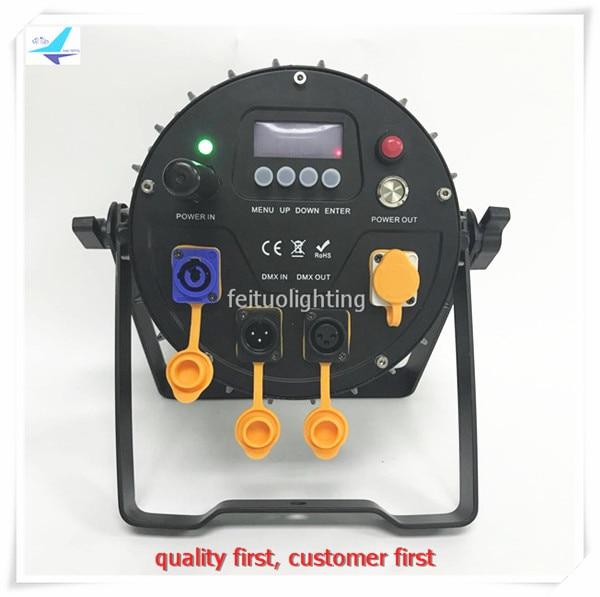 free shipping 6pcs/lot 12x12w IP65 Stage Wireless Par Light WIFI APP Control Battery Par Can LED RGBWA UV 6IN1 Disco Uplighting