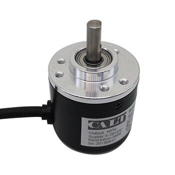 Envío Gratis CALT ES38 6mm del eje NPN AB 2 Fase Incremental óptico codificador rotatorio 100, 200, 360, 400, 500, 600, 1000 PPR CPR