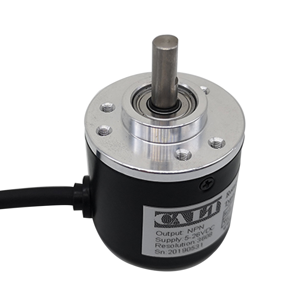 Free shipping CALT ES38 6mm Solid Shaft NPN AB 2 Phase Incremental Optical Rotary Encoder <font><b>100</b></font> 200 360 <font><b>400</b></font> 500 600 1000 PPR CPR image