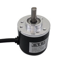 Free shipping PNP Pushpull AB 2 Phase 6mm shaft Incremental Optical Rotary Encoder 100 200 360 400 500 600 1000 pulse ES38