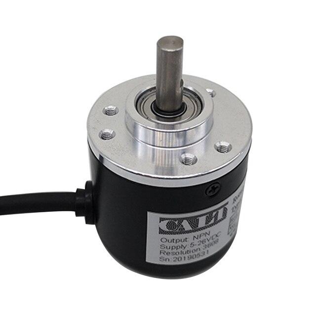 Free shipping PNP Pushpull AB 2 Phase 6mm shaft Incremental Optical Rotary Encoder 100 200 360 400 500 600 1000 pulse ES38