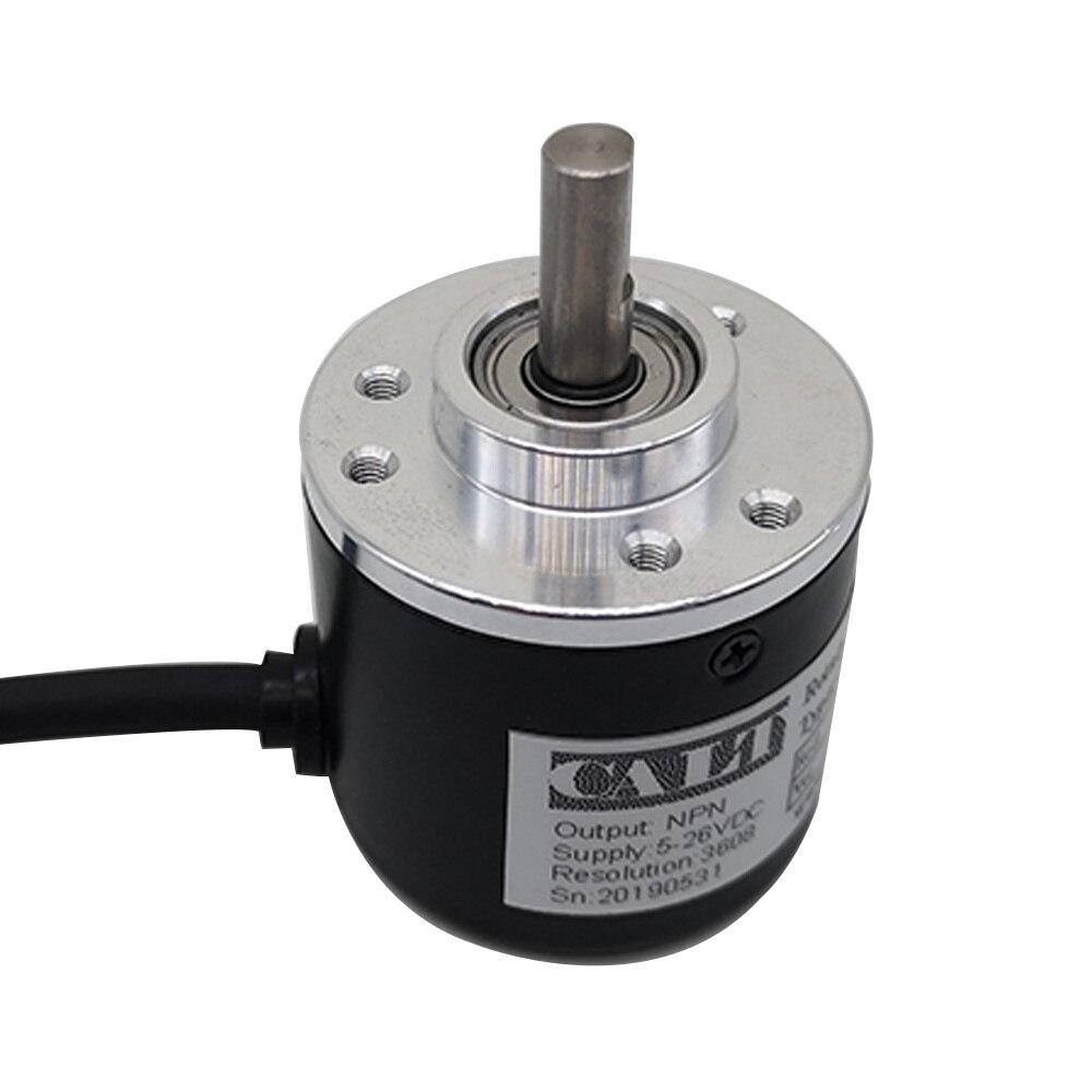 Frete grátis CALT ES38 6mm Eixo Sólido 2 NPN AB Fase Codificador Rotativo Óptico Incrementais 100 200 360 400 500 600 1000 PPR CPR
