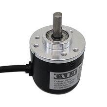 จัดส่งฟรี PNP ดึง AB 2 เฟส 6mm SHAFT INCREMENTAL Optical ROTARY Encoder 100 200 360 400 500 600 1000 PULSE ES38