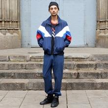 Jacke Männer Gosha Rubchinskiy Classic Navy Tricolor Sporting Langarm Windjacke Jacken Hiphop Skateboards Paare Outwear