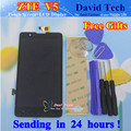 New LCD Display + Digitizer Touch Screen Glass Assembly For ZTE Red Bull V5 V5S U9180 V9180 N9180 Cell Phone 5.0 inch Free Gifts