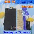 Novo display lcd + touch screen digitador assembléia vidro para zte vermelho Bull U9180 V5 V5S V9180 N9180 Celular 5.0 polegada Brindes