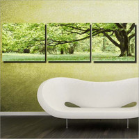 Draw A Picture Of The Numbers Modern Tree Paintings For Bedroom Wall 50X50X3 Diy Oil Painting