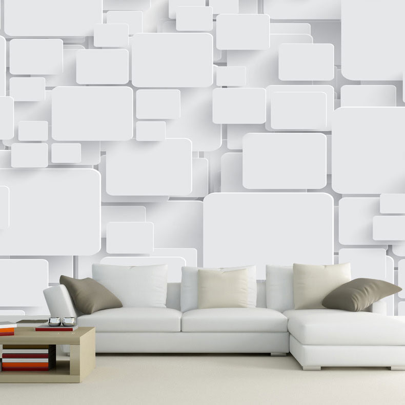 Wallpaper mural cubes abstract 3d wall paper non woven for for What size tv do i need for a 12x15 room