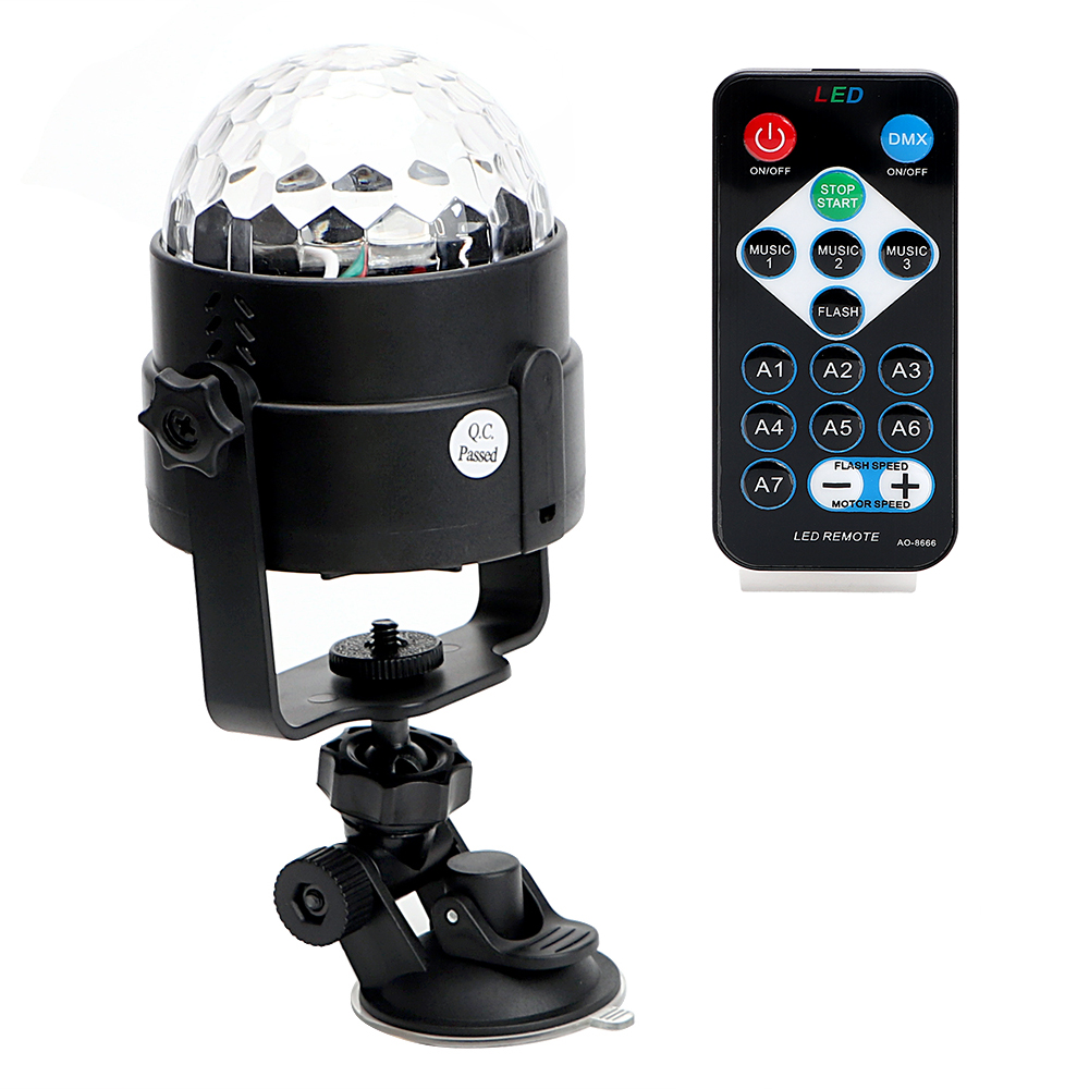 IR Remote Stage Light Bar Pub KTV Party Effect Lamps DJ Club Disco Light Colorful Auto Rotating LED Magic Ball Light RGB Crystal auto rotating rgb led stage light voice control holiday party disco club bar ktv dj led crystal magic ball lighting effect lamp