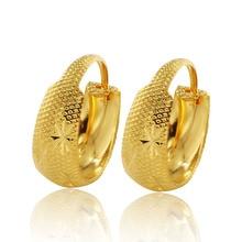 MxGxFam вышивка серьги-кольца цветок для женщин 24 к Чистый золотой цвет тридационные украшения дизайн хорошее качество