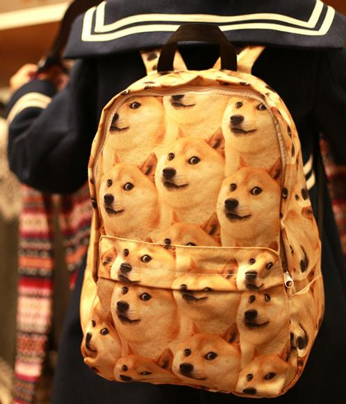 Kawai Doge animal Shiba Inu dog canvas shoulder bag humor funny gift crazy doge creative toy cartoon anime model toy creative akita dog shiba inu plush toys imitation dog doll cartoon birthday gift 40 60cm