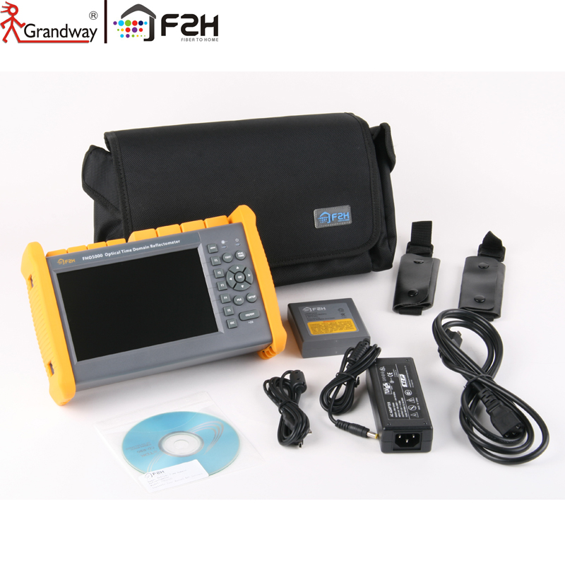 GRANDWAY F2H 1310 / 1550nm 26/24 dB Innebygd Visual Fault Locator (VFL) & Power meter (PM) SM Optisk fiber OTDR Tester
