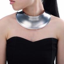 Gargantilla Collar Babero Declaración de Joyería de Moda de Plata de Oro Del Encanto de la Belleza