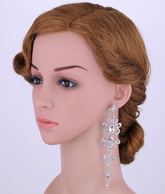Women Crystal African Beads Bracelet Earrings Wedding Bridal Jewelry Set