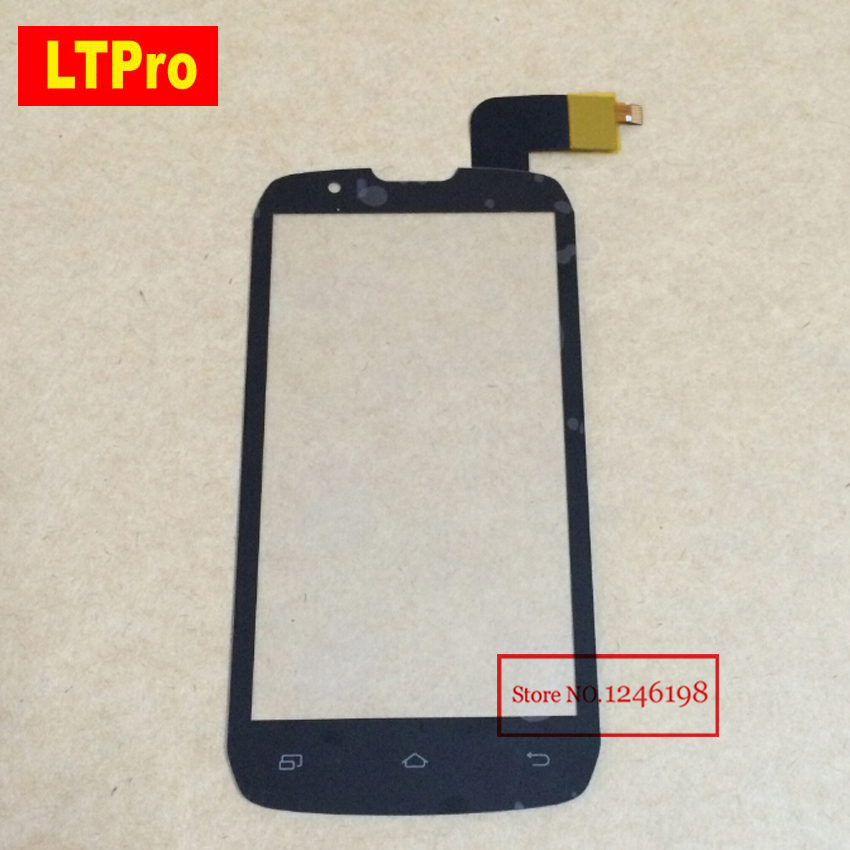 LTPro Black Glass Sensor Touch Screen Digitizer For <font><b>DNS</b></font> <font><b>S4502</b></font> 4502 S4502M Smartphone Front Panel Replacement image