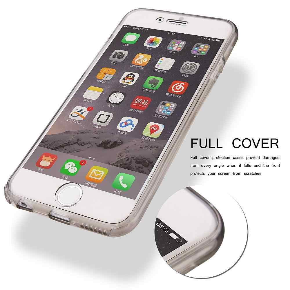 360 Silicone TPU Case For iphone 7 5s 5 SE 6 6s 8 Plus X XR XS MAX Huawei Y6 Pro Y7 Prime Y9 2019 P Smart Cover Full Phone Cases