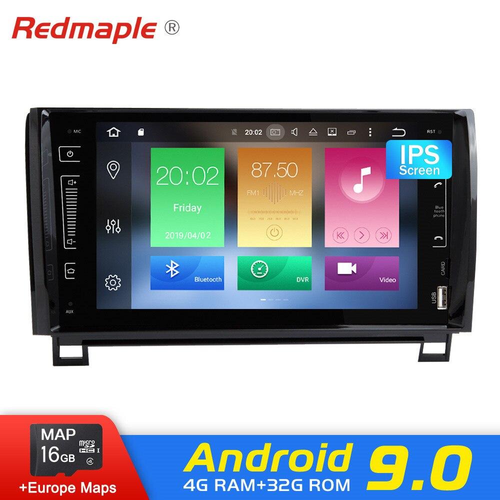 Android 9.0 voiture Radio Navigation pour Toyota toundra Sequoia 2007-2013 lecteur DVD GPS multimédia WIFI Bluetooth vidéo stéréo