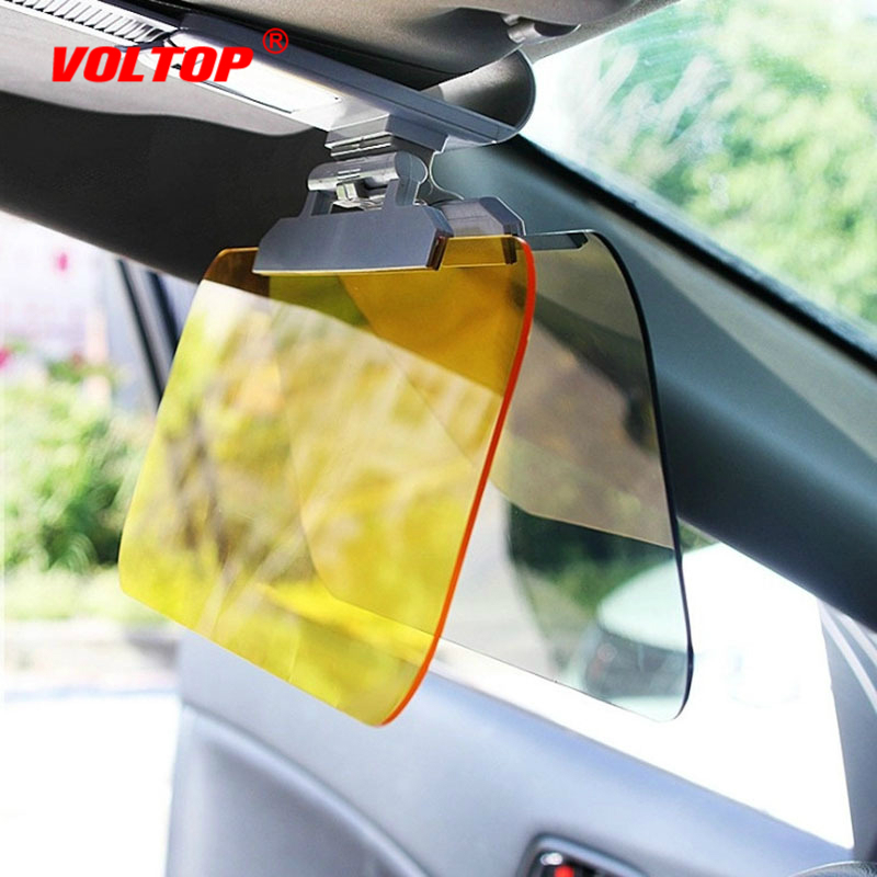 Car Sun Visor Sunglasses Driver Goggles 2 In 1 Day Night Vision Sun Anti-UV Block Visor Anti-Dazzle Sunshade Driving Mirror