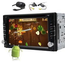Quad core 6.2 Inch Double 2din Android 4.4 Car DVD GPS Navigation wifi Universal Car Headunit Video Player Car Stereo auto Radio