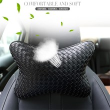 LUCKY 2019 New arrival neck pillow, leather single head pillow for most vehicles filled with fibre general purpose