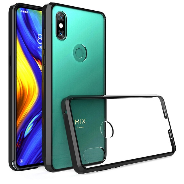 more photos 3cfb6 7f540 US $4.27 |For Xiaomi Mi Mix 3 Case 6.39'' Crystal Hybrid Bumper Clear Hard  Acrylic Back Cover For Xiaomi Mix 3 Mi Mix3 Phone Cases Funda-in Phone ...