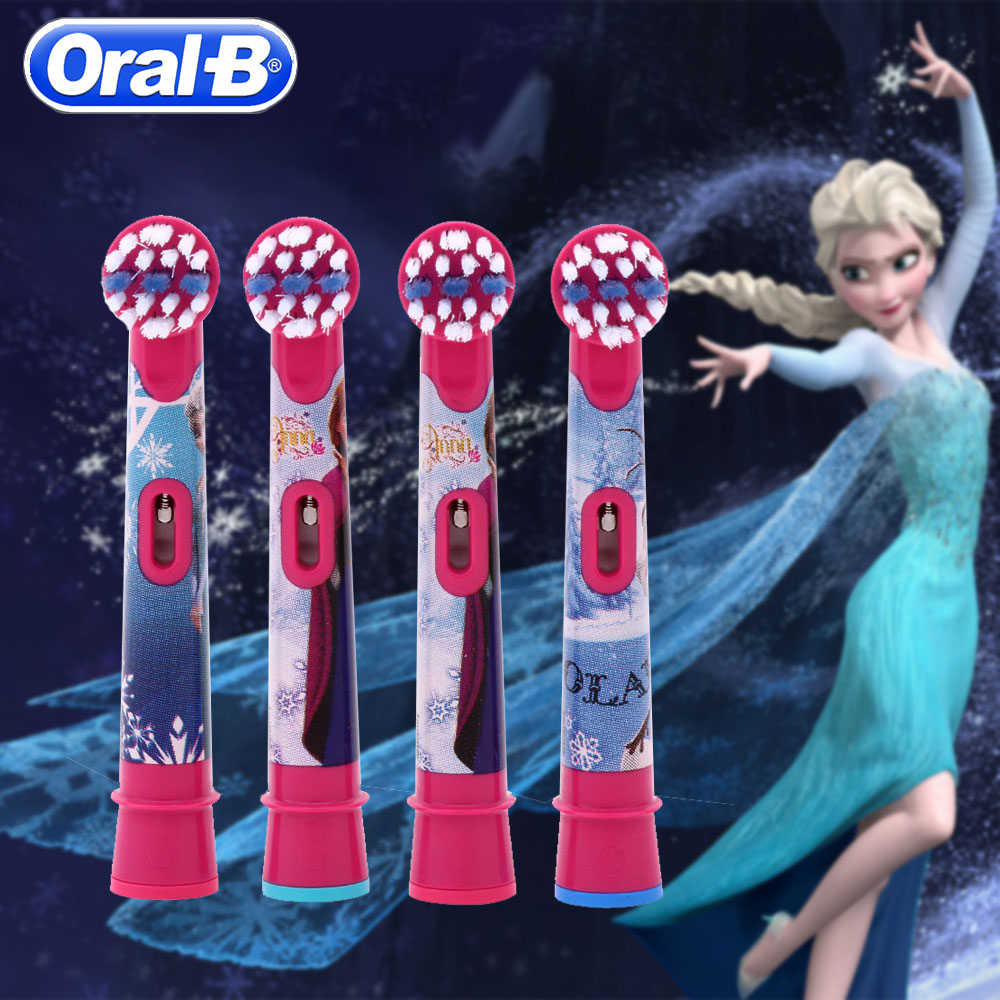 4Pcs  EB-10-4 Oral B Children Toothbrush Heads  Replacement Tooth Brush Heads For OralB DB4510K D12513K  D10 Ibrush
