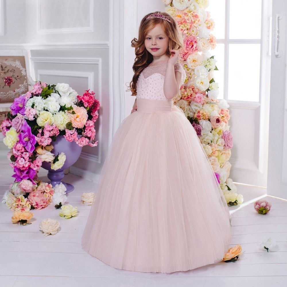 Hand Make First Communion Dresses With Sleeveless Flower Girl Dresses Ball Gown Tulle Mother Daughter Dresses For Girls Party white and ivory lace first communion dresses tulle mother daughter dresses for girls ball gown floor length flower girl dresses