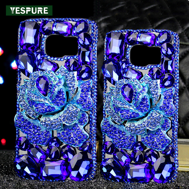 promo code 94e6e 7f293 US $16.98 |YESPURE Fancy 3D Rhinestone Camellia Telephone Cover Case for  Samsung Galaxy S8 plus TPU Cell Phone Accessories Fundas Capa-in Rhinestone  ...