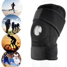 1pc Adjustable Sports Training Elastic Knee Support Brace Kneepad Adjustable Patella Knee Pads Hole Kneepad Safety Guard Strap