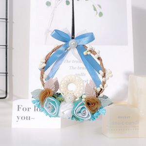 Image 2 - Fashion Car Dream Catcher Blue woven garland Hanging Pendant Home Hanging Decoration craft gift Dashboard Car Mirror Pendant