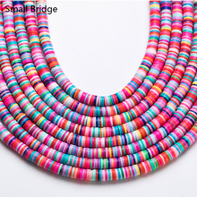 6mm Mixed Color Polymer Clay Beads Slices For Girls Bracelet Making Diy Accessories Perles Loose Fimo Beads Wholesale C801 borosa 10pcs rainbow handmade bracelets polymer clay beads fimo slices plastic thin disc elastic string bracelet jewelry hd0090