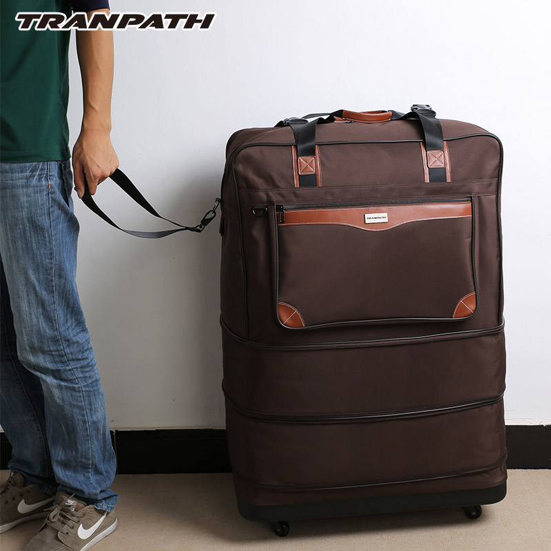 3919682b7 40 inch foldable trolley luggage men travel bags super large capacity  rolling luggage -in Rolling Luggage from Luggage & Bags on Aliexpress.com    Alibaba ...